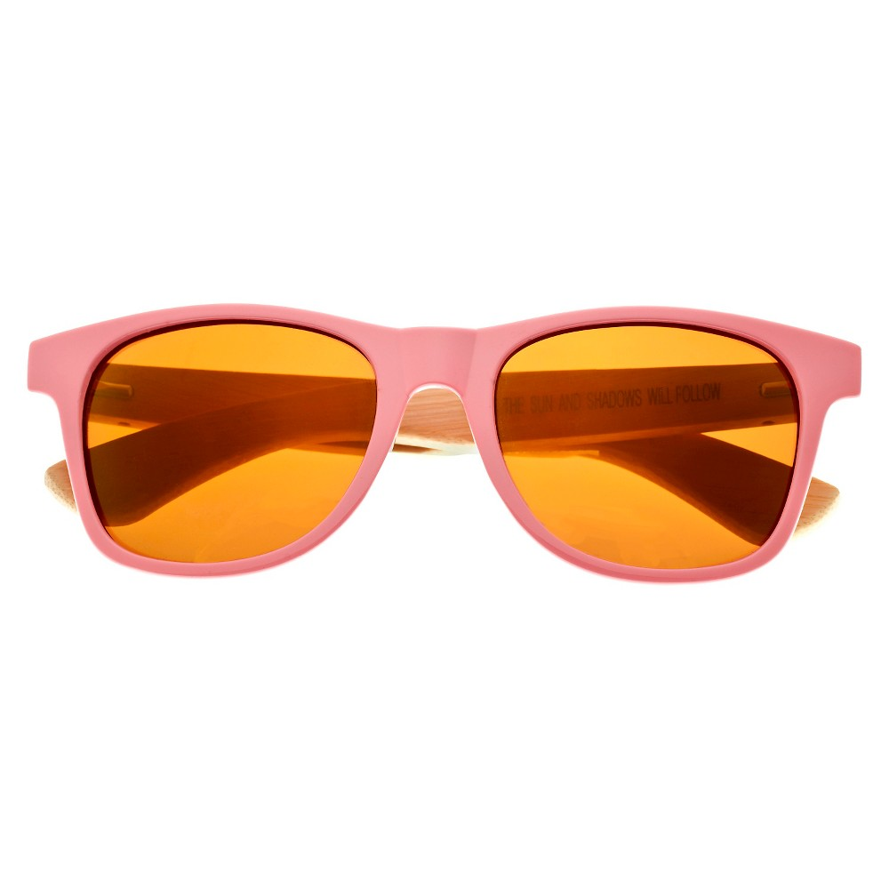Earth Wood Rockport Unisex Sunglasses with Gold Lens - Pink, Ballet