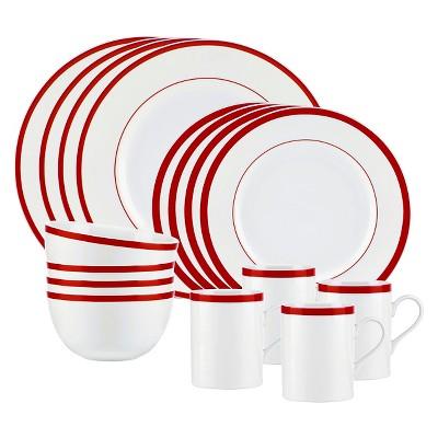 Bistro by Gorham 16 Piece Dinnerware Set - Red