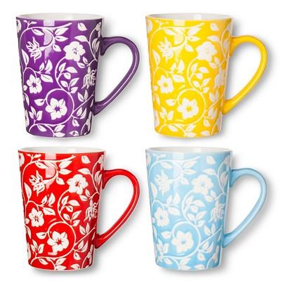 BIA Cordon Bleu Floral Mugs Set of 4 (16 oz)