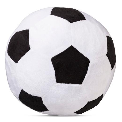 Squishy Soccer Ball Pillow : Soccer Ball Shaped Throw Pillow - White/Black (11
