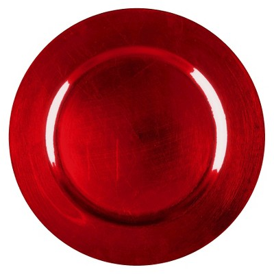 Round 12.87in Polypropylene Charger Red - Threshold™