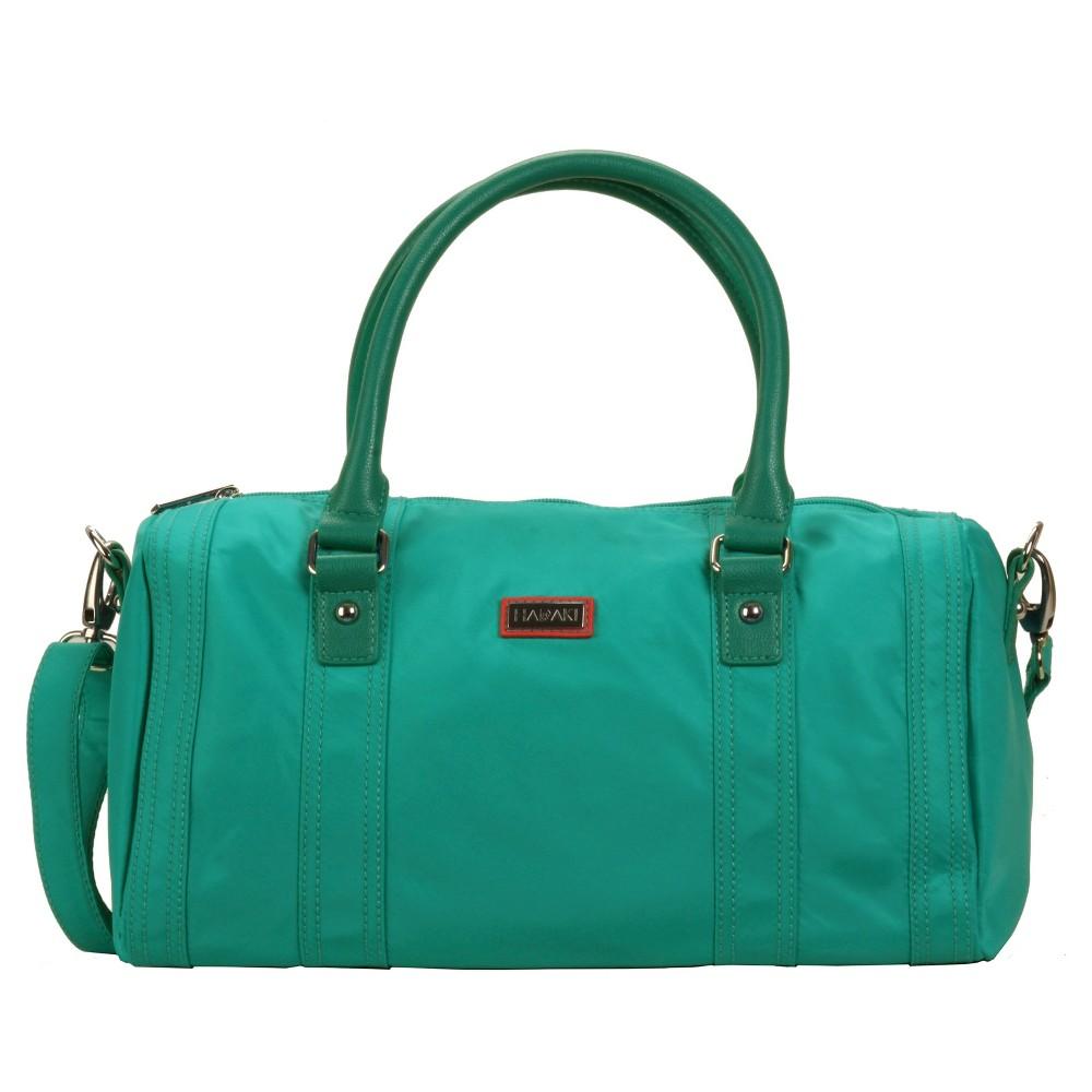 Womens Nylon City Duffle Handbag, Paradise Teal