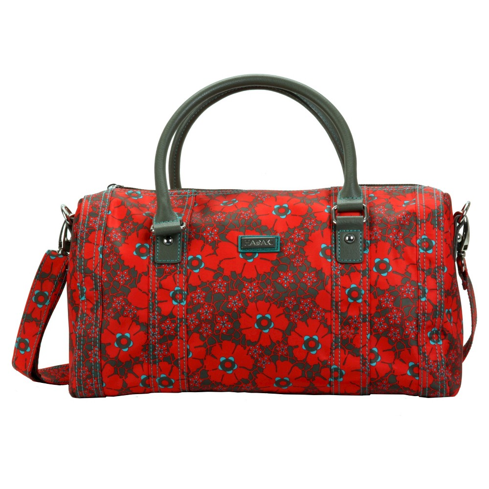 Womens Nylon City Duffle Handbag, Red