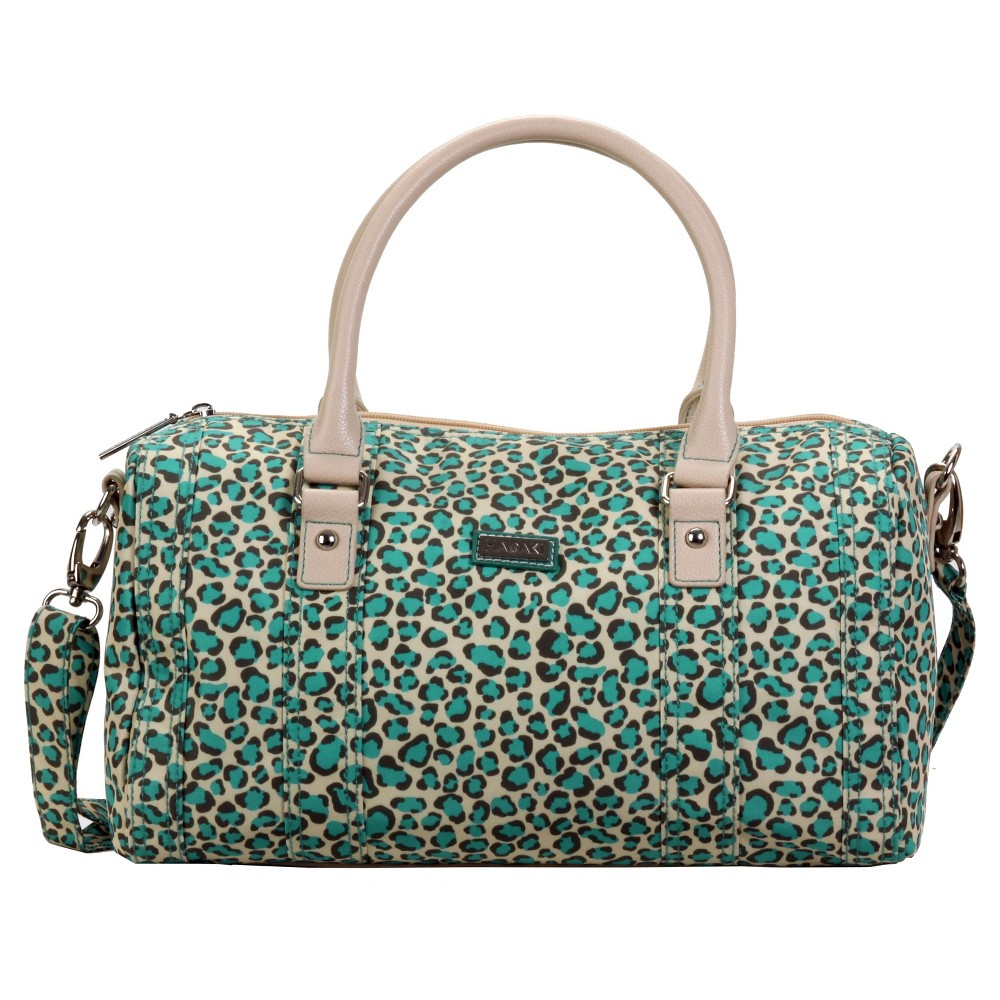 Womens Nylon City Duffle Handbag, Lite Aqua