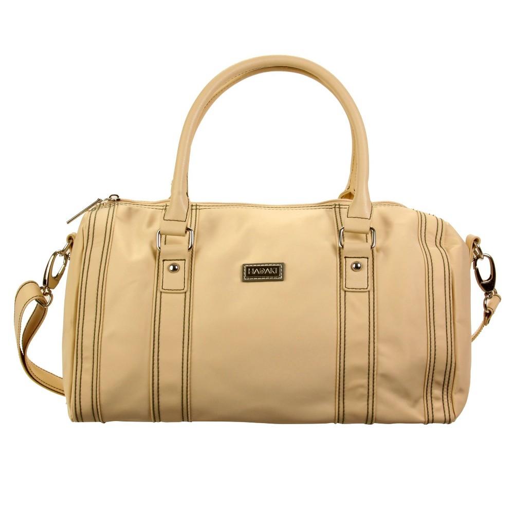 Womens Nylon City Duffle Handbag, Beige