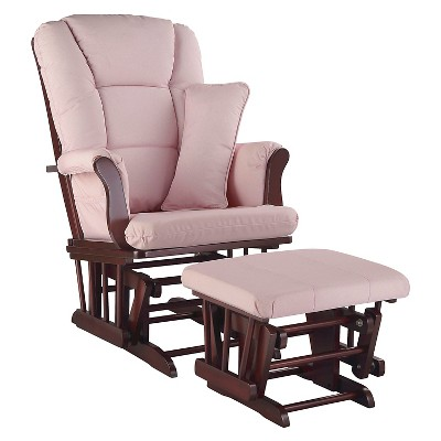 Stork Craft Tuscany Cherry Glider and Ottoman - Pink Blush Swirl