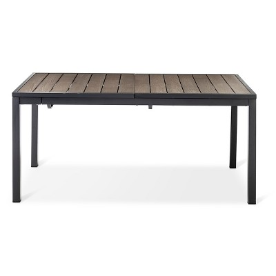 Sommer Aluminum/Faux Wood Extension Outdoor Table   Threshold™ Part 15