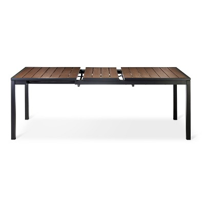 Beautiful Sommer Aluminum/Faux Wood Extension Outdoor Table   Threshold™ Part 13