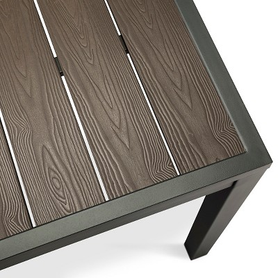 Charming Sommer Aluminum/Faux Wood Extension Outdoor Table   Threshold™