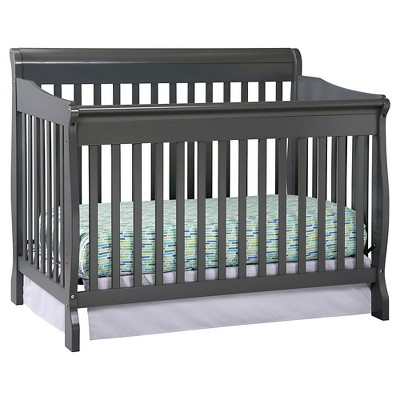 Stork Craft Modena 4-in-1 Fixed Side Convertible Crib - Gray