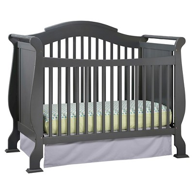 Stork Craft Valentia 4-in-1 Convertible Crib - Gray