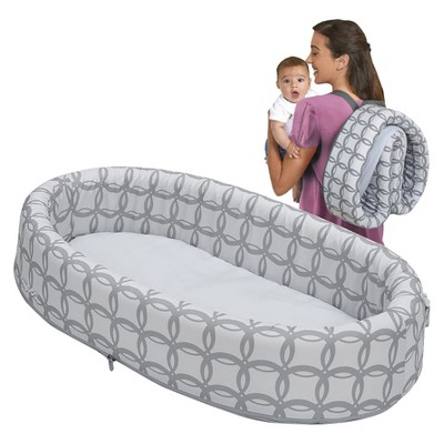LulybooBaby Lounge To-Go Travel Bed - Gray