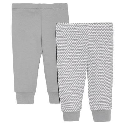 Skip Hop Baby 2pk Pants - Gray NB