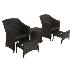 Belvedere 5-pc Wicker Patio Chat Set - Frame Only - Threshold™