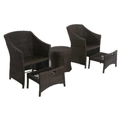 Belvedere 5 Pc Wicker Patio Chat Set   Frame Only   Threshold™