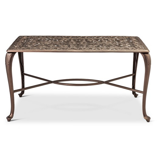 folwell cast aluminum coffee table - threshold™ : target