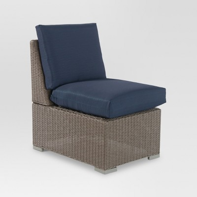 Heatherstone Wicker Patio Sectional Armless Chair   Threshold™