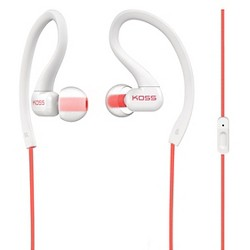 Koss Fit Clip with Mic Around-the-ear Headphones - Coral