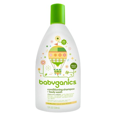 Babyganics 2-in-1 Conditioning Shampoo & Body Wash, Chamomile Verbena - 12oz