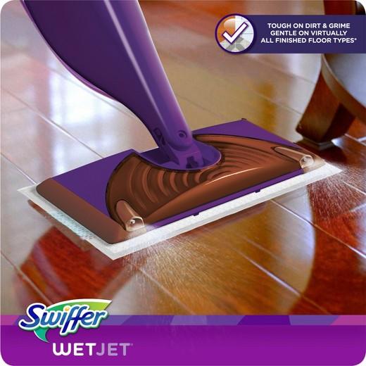 swiffer wetjet wood hardwood floor spray mop starter kit : target