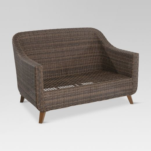 Mayhew Wicker Patio Loveseat - Frame Only - Threshold™