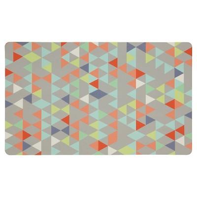 Gray Loose Triangles Kitchen Floor Mat Rug (18 X30 )