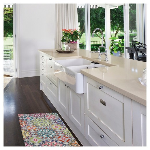 "Teal Medallions Kitchen Floor Mat Rug (18""X30"") : Target"