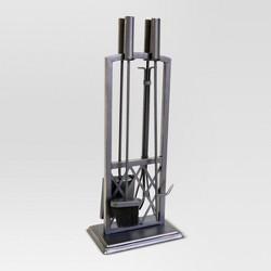 Lattice Fireplace Tool Set - Black with Brass Finish - Threshold™