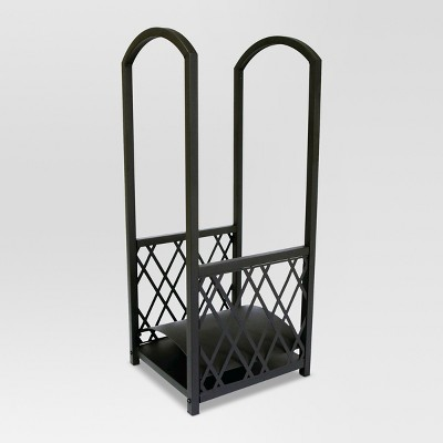 Lattice Large Fireplace Log Rack - Matte Black Finish - Threshold™