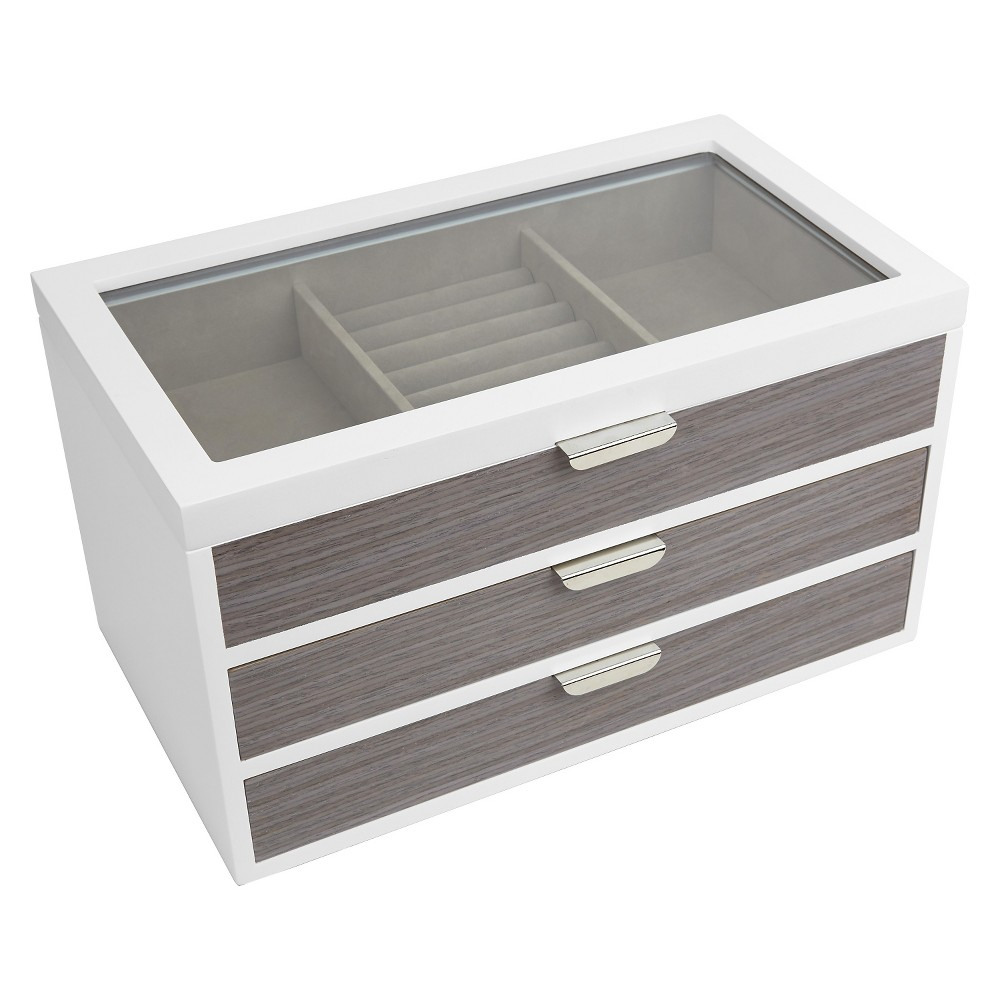 Loft By Umbra Avante Jewelry Box – White/Gray
