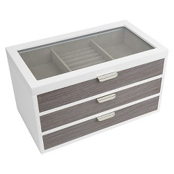 Loft By Umbra Avante Jewelry Box - White/Gray