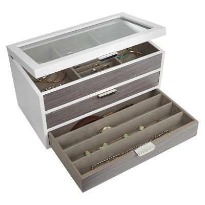 Loft By Umbra Avante Jewelry Box WhiteGray Target