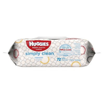Huggies Simply Clean Baby Wipes, Soft Pack - (72 ct)