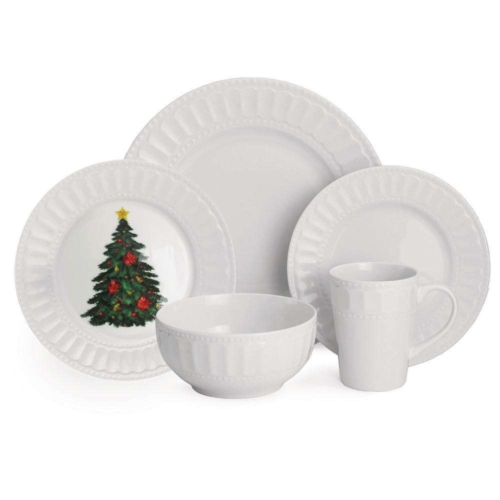 American Atelier Radiant Christmas 20-pc. dinnerware Set, White