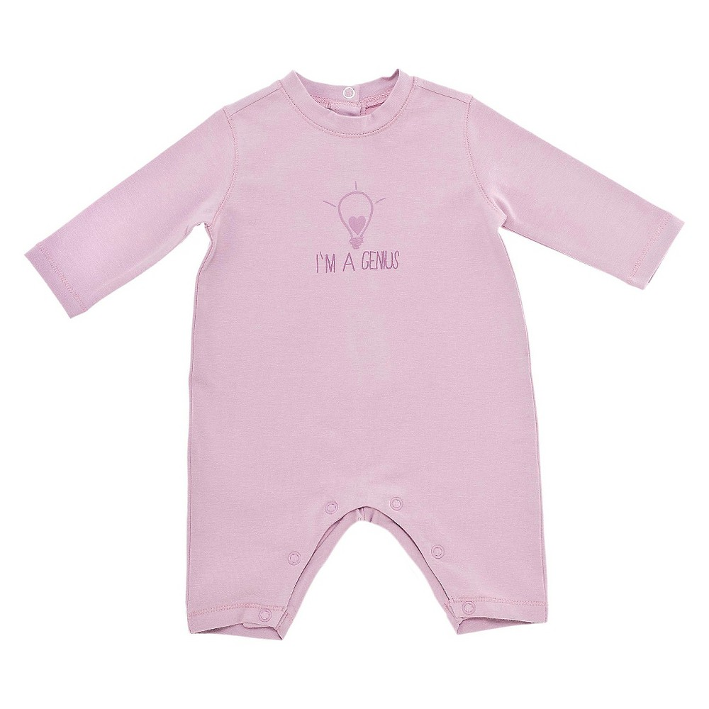 Chicco Baby Girls Long Sleeve Coverall - Pink 0-3 M