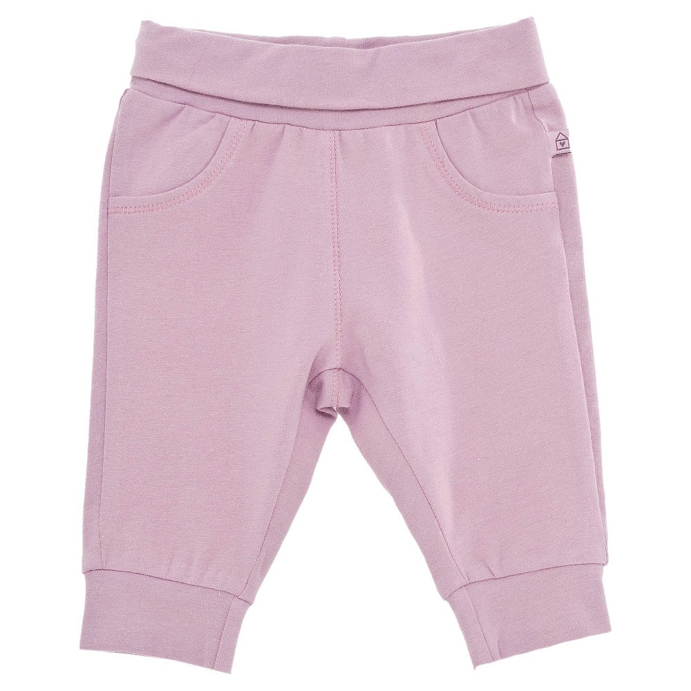 Chicco Baby Girls Solid Pants - Pink NB