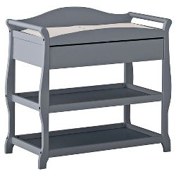 Storkcraft Aspen Changing Table With Drawer Gray Target