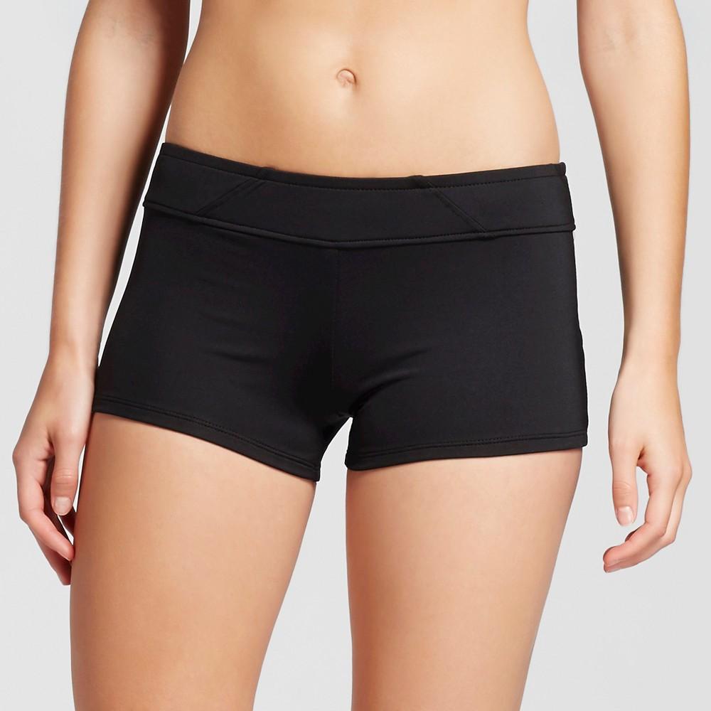 Women's Swim Shorts Bikini Bottom Black L - Mossimo