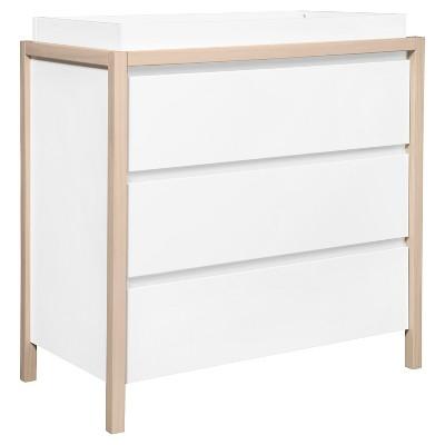 Babyletto Bingo 3-Drawer Changer Dresser - White/Washed Natural
