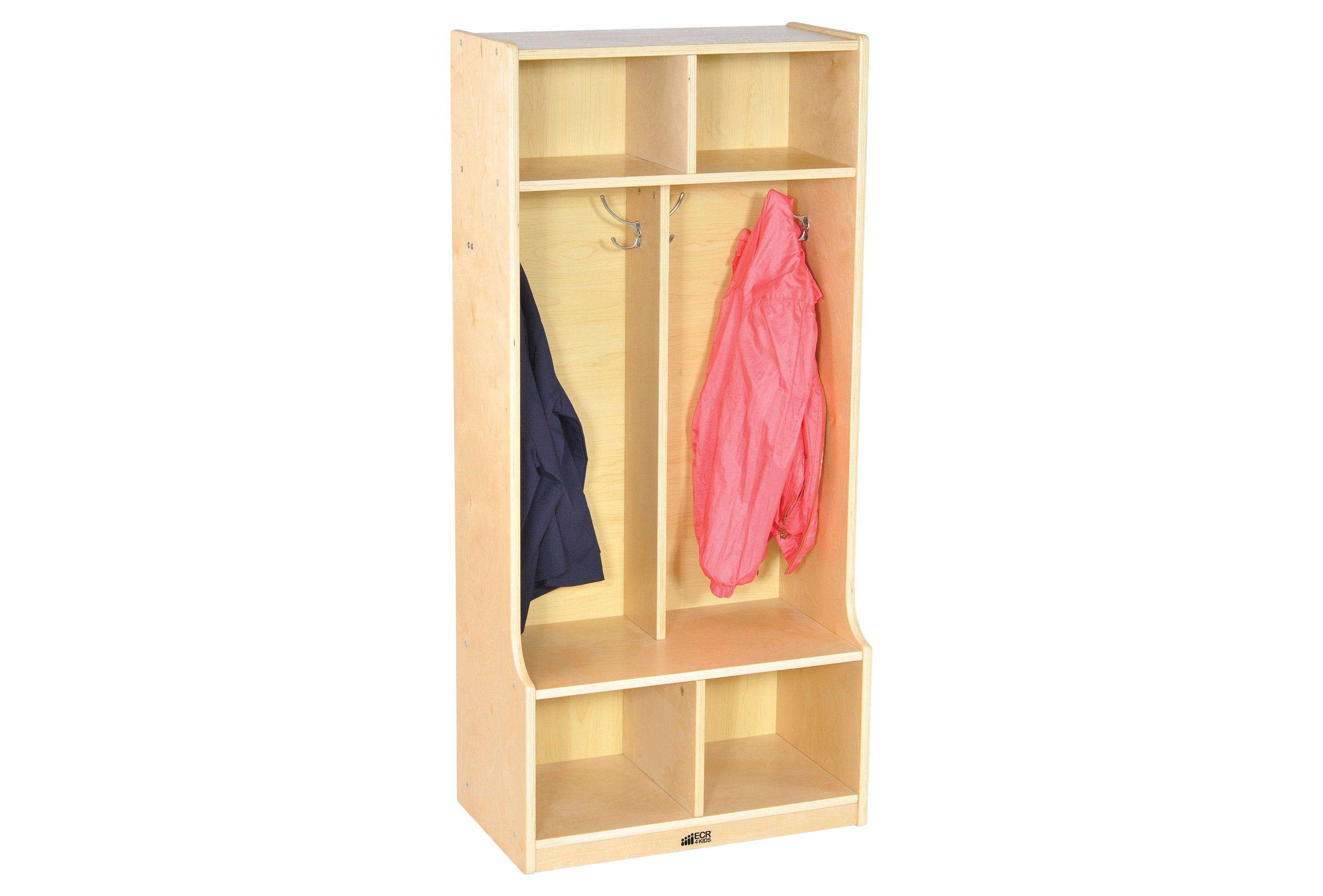 2 Section Coat Locker with Bench
