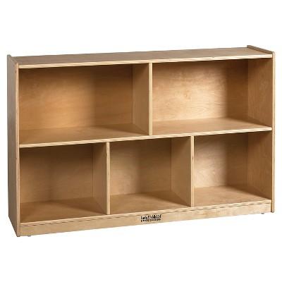 ECR4Kids Birch 5 Compartment Storage Cabinet 30  - Brown