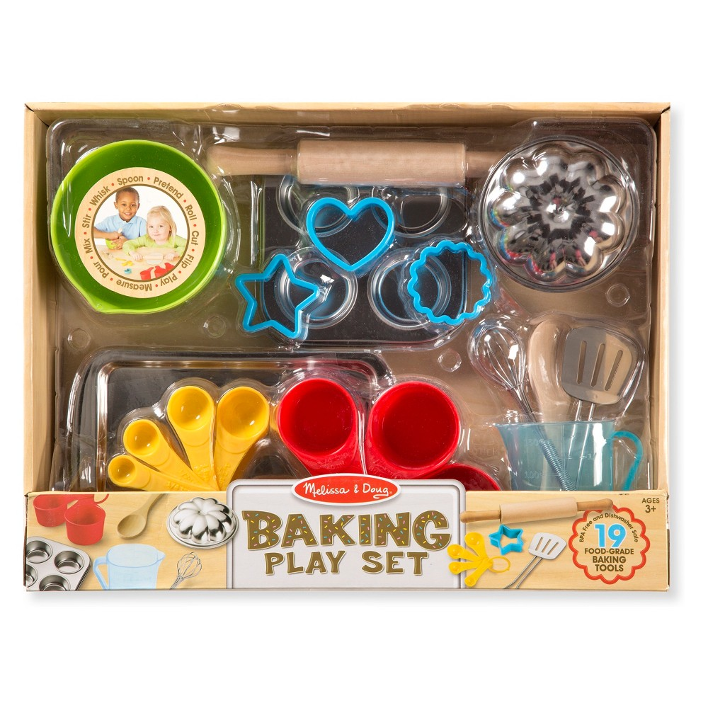 Melissa & Doug Baking Play Set (20pc) - Play Kitchen Accessories