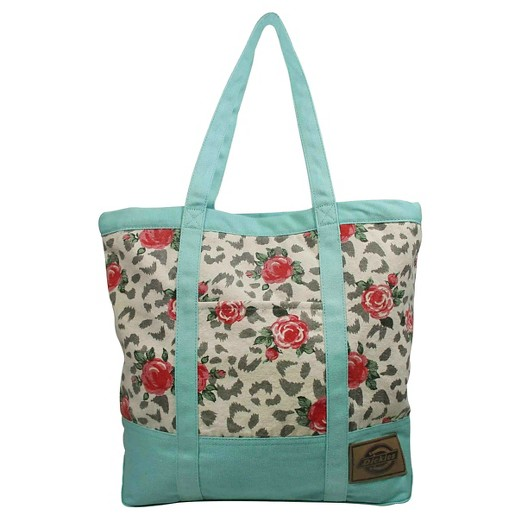 Dickies® Printed Canvas Tote Handbag with Zip Top and Pocket ...