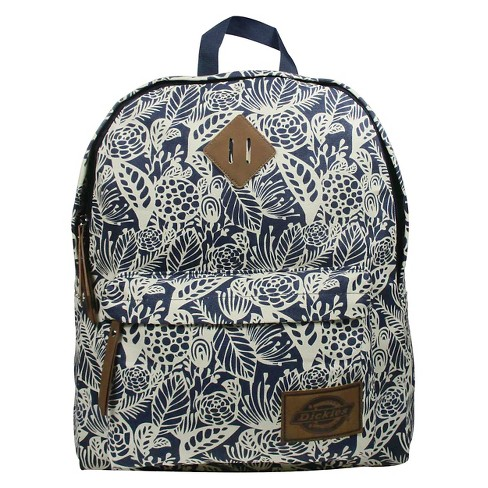 Dickies® Printed Classic Canvas Backpack Handbag with Front Zip Pocket - Navy - image 1 of 3
