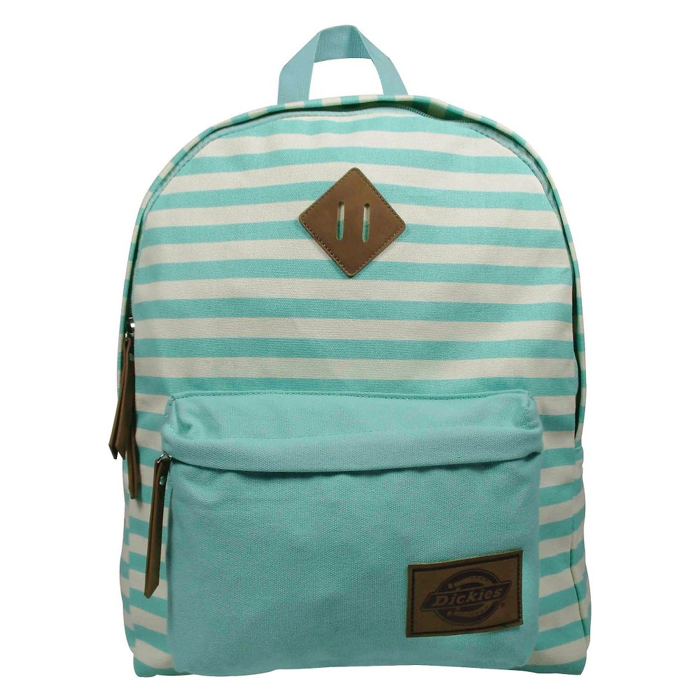 Dickies Printed Classic Canvas Backpack Handbag with Front Zip Pocket - Mint, Mint Green