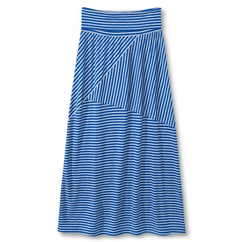 Girls' Lots of Love Striped Maxi Skirt - Blue - image 1 of 1