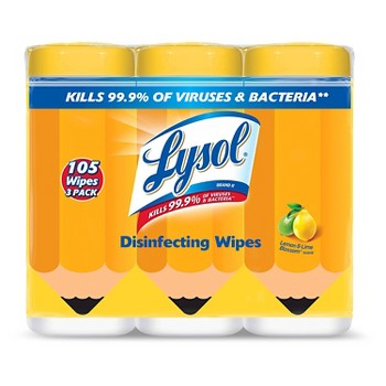 3 Pack Lysol Disinfecting Wipes