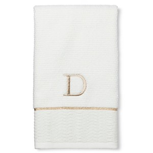 Classic Monogram Hand Towel D - Threshold, Gold