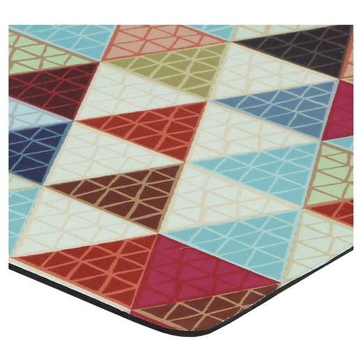 Blue Triangle Revisit Kitchen Floor Mat Rug (18\