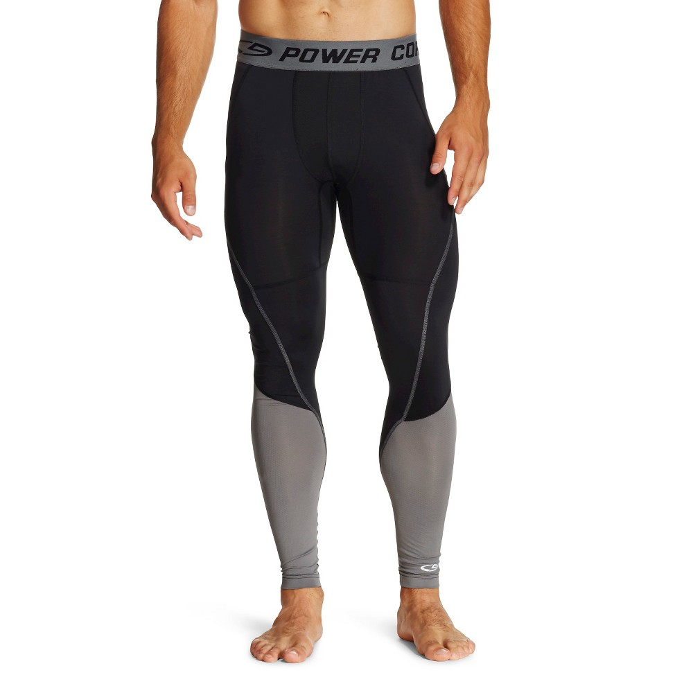 Men's Premium Power Core Compression Tights - C9 Champion Thundering Gray M